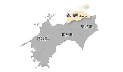 日本香川縣位置地圖