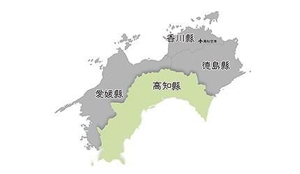 日本高知縣位置地圖