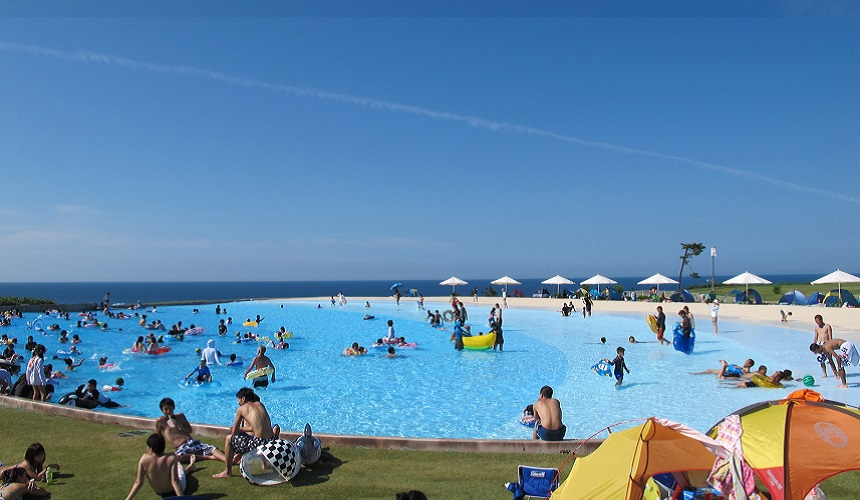 日本最大水上樂園福井縣「芝政世界」的Caribbean Beach