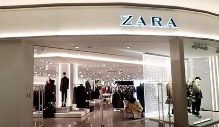 AEON MALL新小松內的ZARA店舖