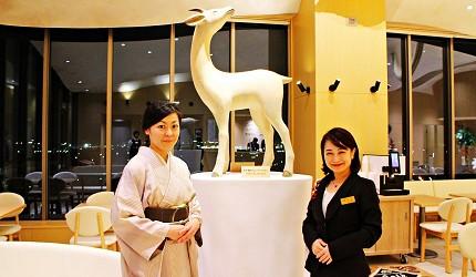 金澤推薦住宿旅館飯店 HOTEL WING INTERNATIONAL Premium金沢駅前的女將迎賓,服務接待非常親切!