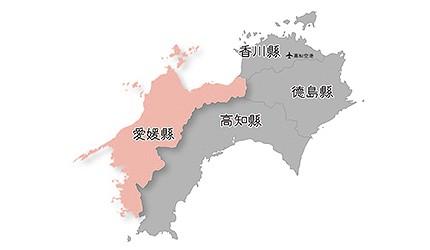 日本愛媛縣位置地圖