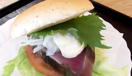 日本高知鰹魚漢堡