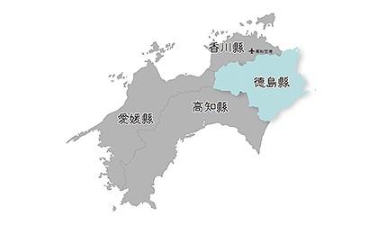 日本德島位置地圖
