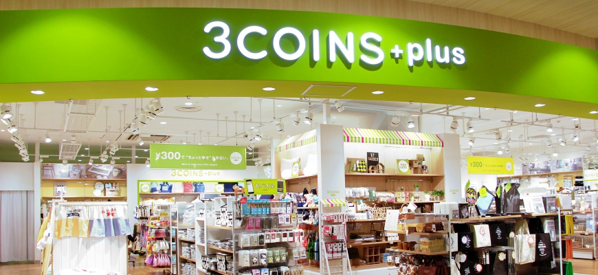 AEON MALL新小松内的3COINS+plus店舖