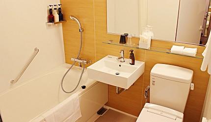 金澤飯店旅館住宿推薦!HOTEL WING INTERNATIONAL Premium金沢駅前 和洋室兩張單人床房(和洋室ツイン)浴室廁所