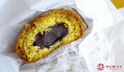 日本越光米的故鄉北陸「福井」的傳承300年的和菓子「御素麺屋」的「かりんとう饅頭」內餡