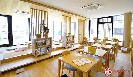 日本越光米的故鄉北陸「福井」的味噌店「米五 みそ楽」咖啡廳店內一景