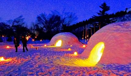 2019越後妻有大地藝術祭附近的「雪美洞祭」的雪洞