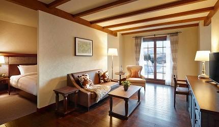 日本新潟「樂天新井度假村」(ロッテアライリゾート)的住宿棟的豪華4人房
