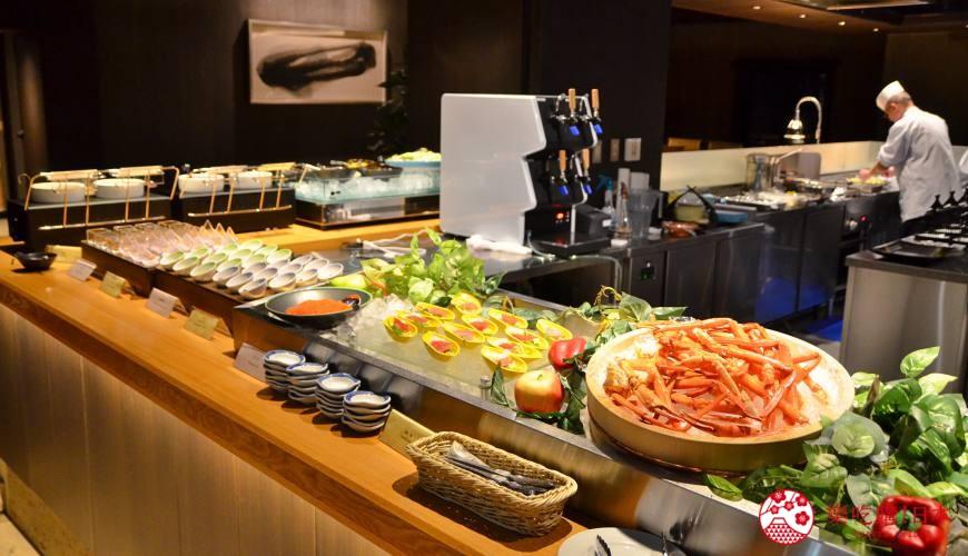日本新潟「樂天新井度假村」(ロッテアライリゾート)的和食自助餐餐廳「朝日」