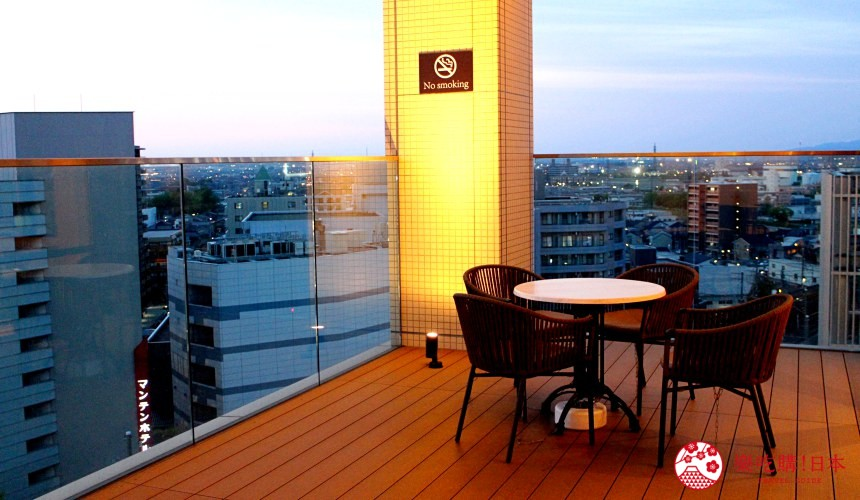 HOTEL WING INTERNATIONAL Premium金沢駅前的陽台景色