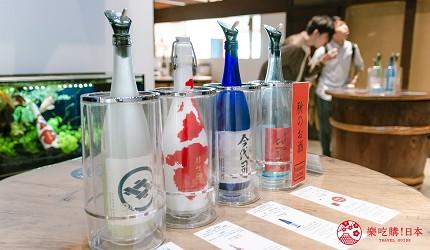 日本自由行新潟四日三夜行程中推介酒廠今代司酒造內的試酒區域