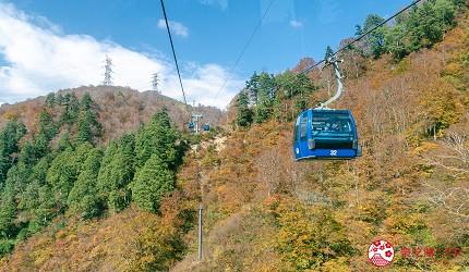 日本自由行新潟四日三夜行程中推介的龍之纜車DRAGONDOLA