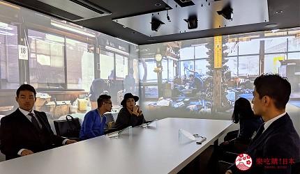台灣香港已有直航的新潟縣新自由行觀光旅行熱點燕市彌彥村4日3夜行程推薦推介前往的燕三條義式料理Bit的360度的影像包圍中用餐空間