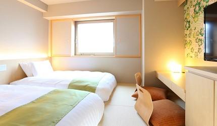 金澤飯店旅館住宿推薦!HOTEL WING INTERNATIONAL Premium金沢駅前 和洋室兩張單人床房(和洋室ツイン)